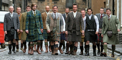 men in kilts. Pic: http://pursuitist.com/men-in-kilts-talking-fashion-with-howie-nicholsby-kilt-maker-to-the-stars/