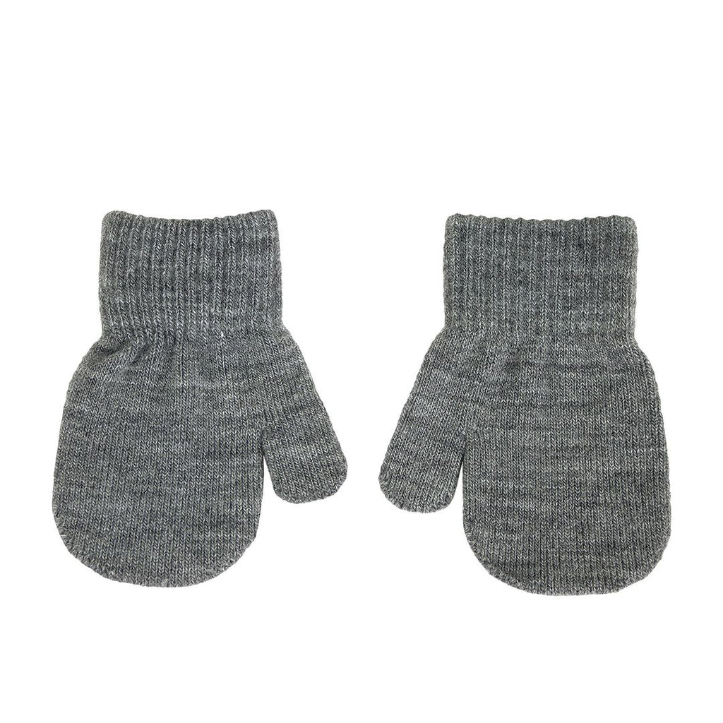 Mittens Grey Melange 1-3 years