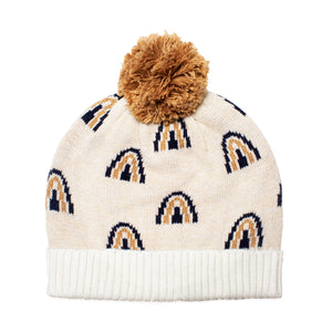 Rainbow Beanie - Navy/Oatmeal - 3 months - 5+ years