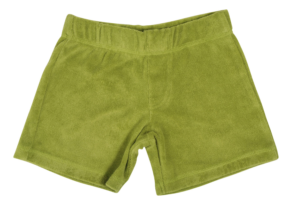 Spinach Green - Terry Short Pants (2-14 years)