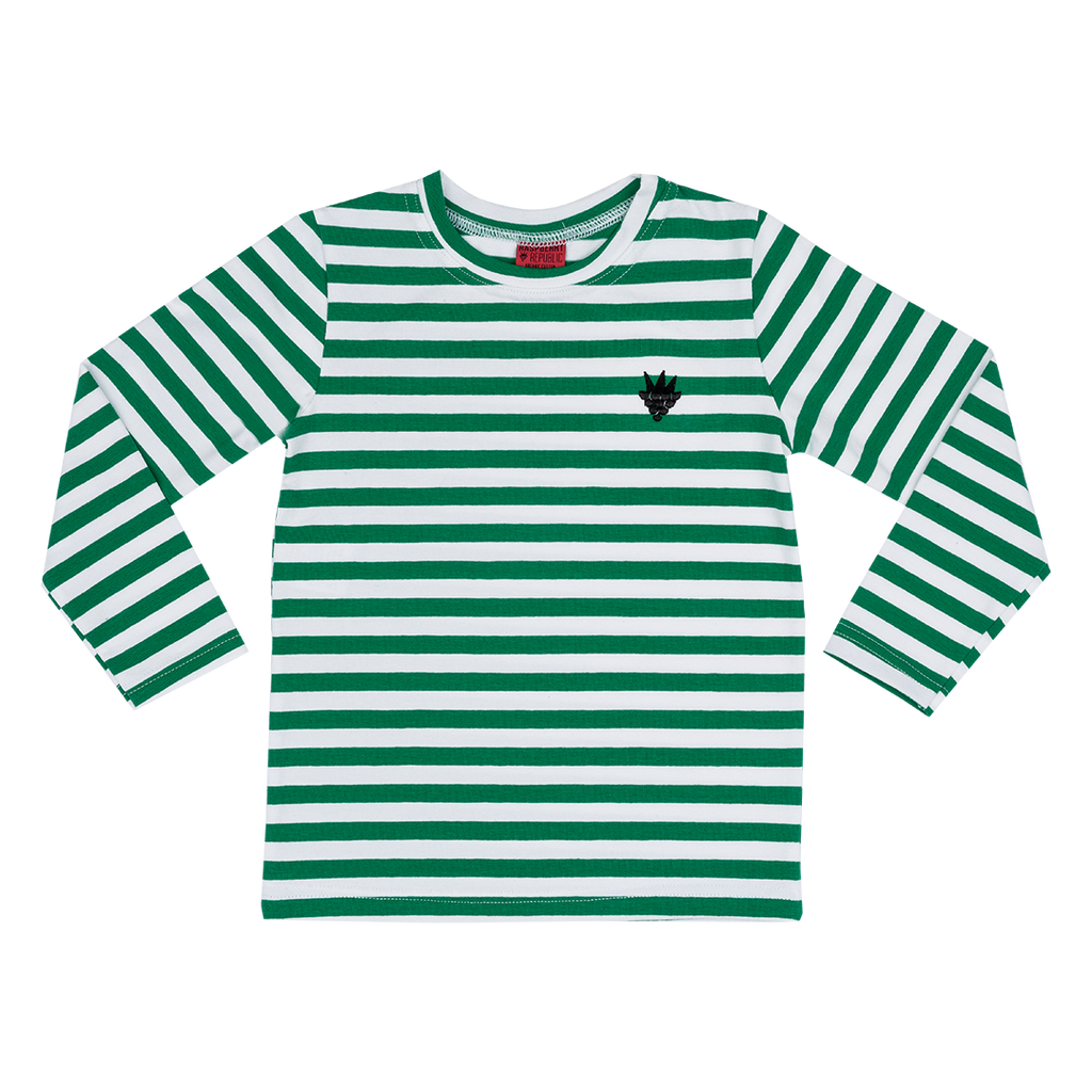 Green Stripes Long-Sleeve T-Shirt (18 months - 11 years)