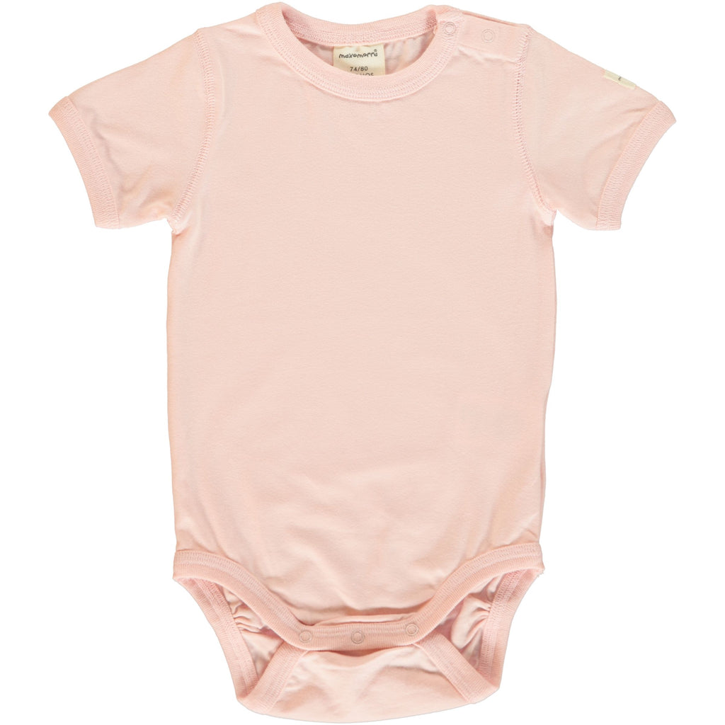 Pale Blush Short Sleeve Bodysuit (NB-12 months)