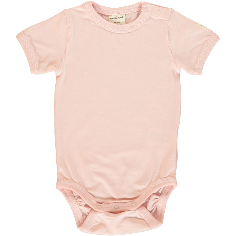 Pale Blush Short Sleeve Bodysuit (1-24 months)