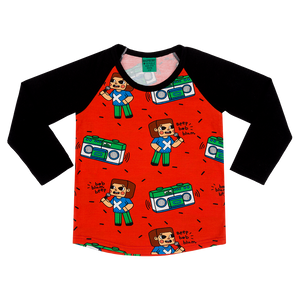 Brick Party Long-Sleeve T-Shirt (3 - 9 years)