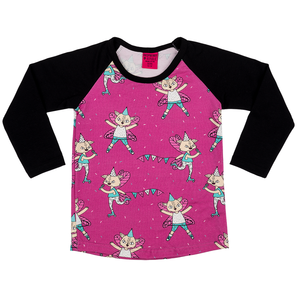 Flying Kitty Long-Sleeve T-Shirt (3 - 9 years)