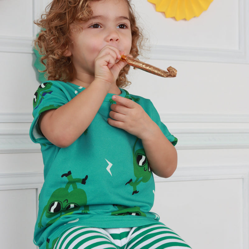 Green Stripe Pants (18 months - 9 years)