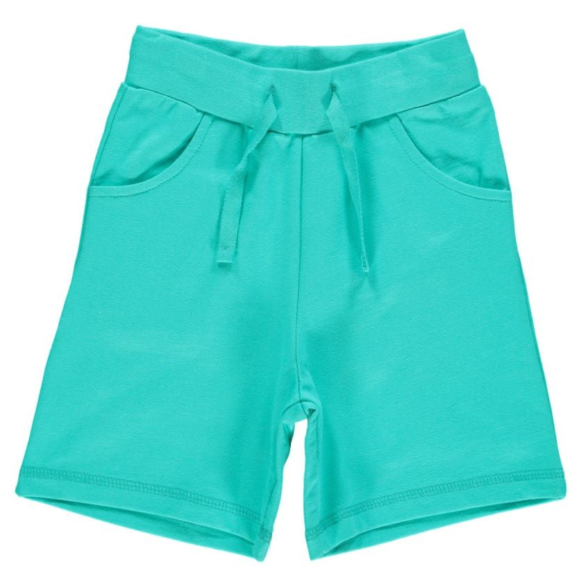 Turquoise Regular Shorts (baby-12 years)-Maxomorra-Freedom Kids