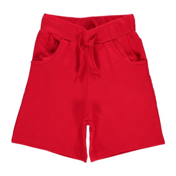 Red Regular Shorts (baby-10 years)-Maxomorra-Freedom Kids