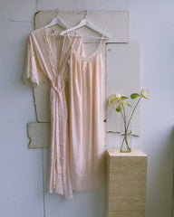 vintage Dior slip and robe set.