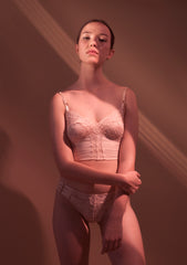 Florian. Lace Softcup Bra. Powder.