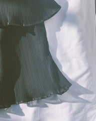 vintage La Perla pleated black chemise.
