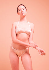 James. Silk Narrow Knicker. Skin
