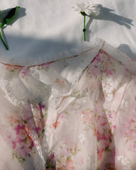 vintage sheer floral bed jacket.