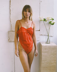 vintage red-hot one piece.