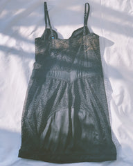vintage lace & satin chemise with matching knicker.