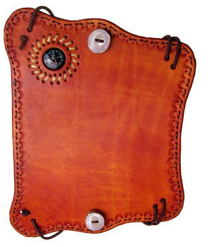 Hand Tooled Leather Compass Armguard