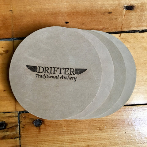 Leather Drifter Coaster Set 4