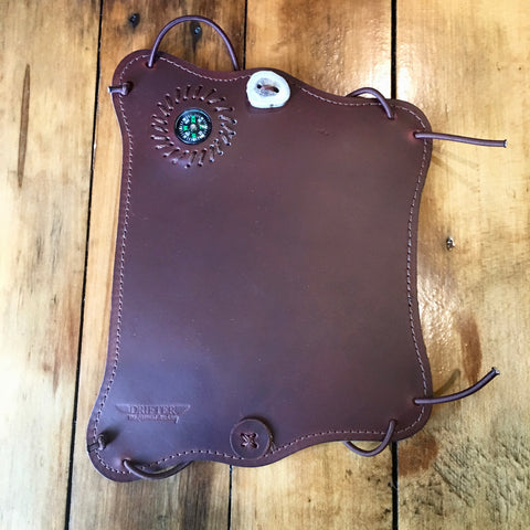 Cordovan Leather Compass Armguard