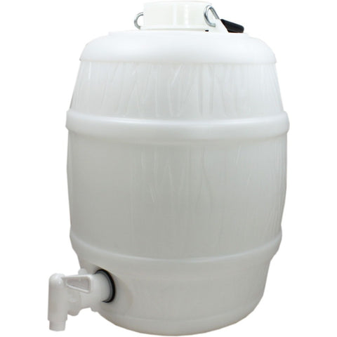 2 Gallon Basic White Barrel - Brewers Barn - 1