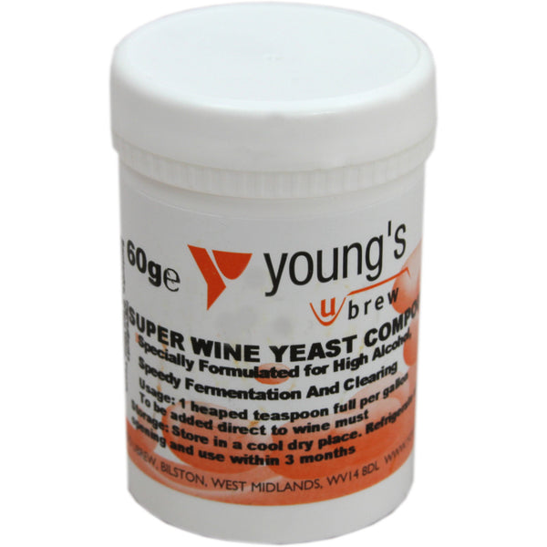 Super Wine Yeast Compound 60grm - Brewers Barn