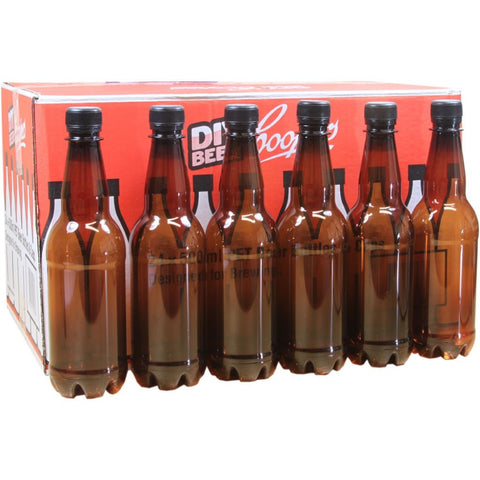 Amber PET Bottles 500ml (24) - Brewers Barn