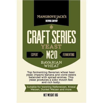 Mangrove Jacks M20 Bavarian Wheat Craft Yeast - Brewers Barn