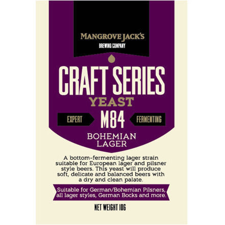 Mangrove Jacks M84 Bohemian Lager Craft Yeast - Brewers Barn - 1