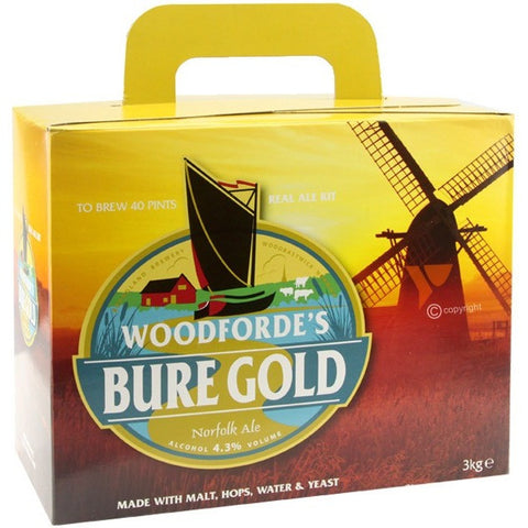 Woodfordes Bure Gold 40pt Home Brew Beer Kit - Brewers Barn