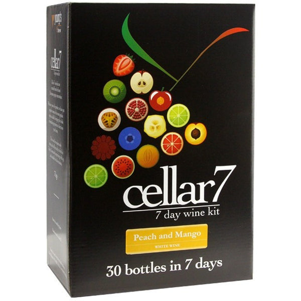 Cellar 7 Peach And Mango 30 Bottle Home Brew Wine Kit - Brewers Barn