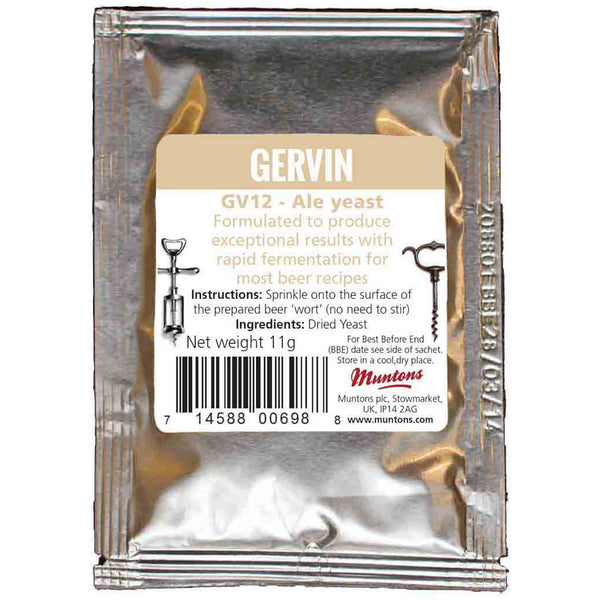 Gervin Ale Yeast - Brewers Barn - 1
