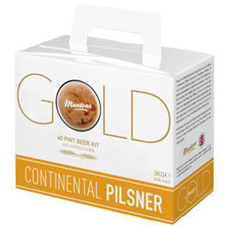 Muntons Gold Continental Pilsner 40pt Home Brewing Kit - Brewers Barn - 1