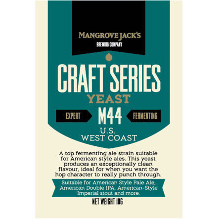 Mangrove Jacks M44 U.S. West Coast Craft Yeast - Brewers Barn - 1