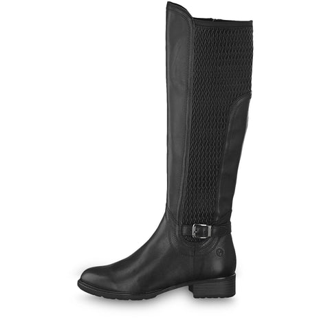 Tamaris black long leg boot