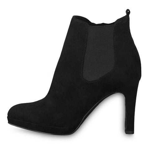 Tamaris black suede ankle boot