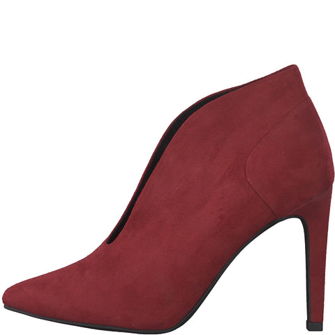 Marco Tozzi red suede shoe