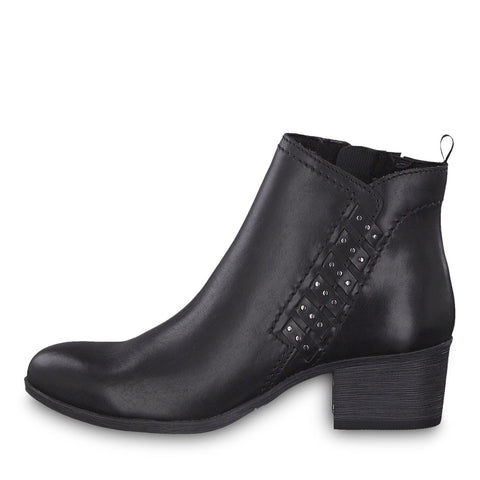 Marco Tozzi black leather ankle boot