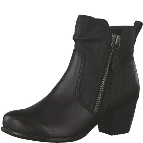 Jana black ankle boot