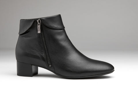 Ara black ankle boot