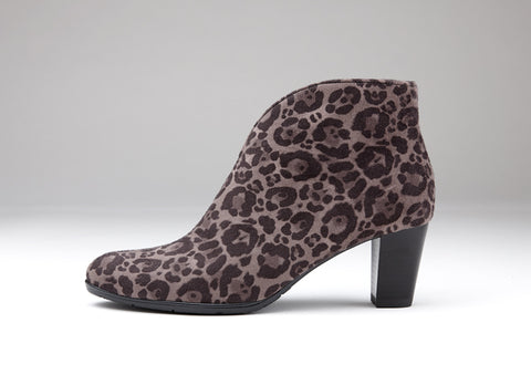 Ara animal print ankle boot