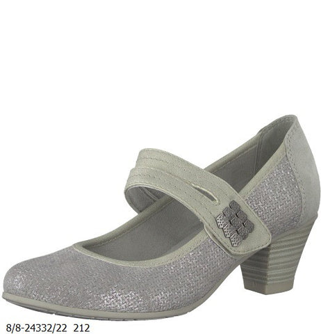 Jana grey silver shoe