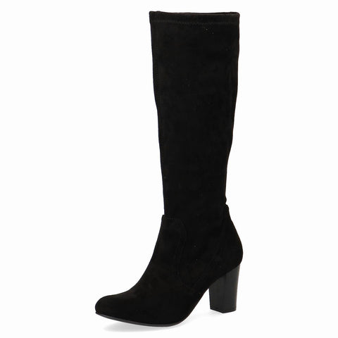 Caprice black suede boot