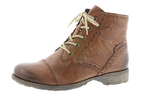 Rieker ladies tan brouge boot