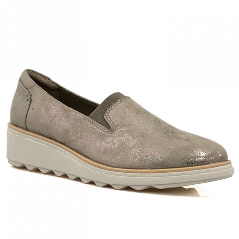 Clarks Sharon Dolly Pewter Metallic
