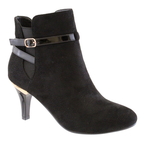 susst black suede ankle boot
