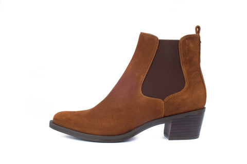 Unisa tan suede leather boot