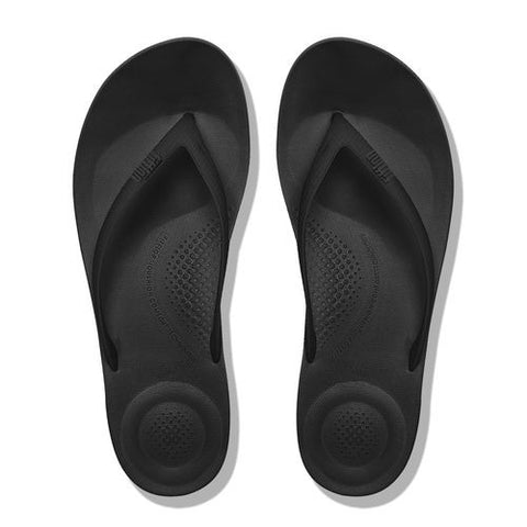 1ccc577e43d567 IQUSHION SUPER-ERGONOMIC TOE-THONG SANDALS ALL BLACK – Grants Shoe Shop