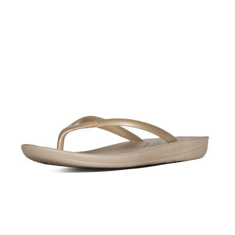 IQUSHION SUPER-ERGONOMIC TOE-THONG SANDALS GOLD
