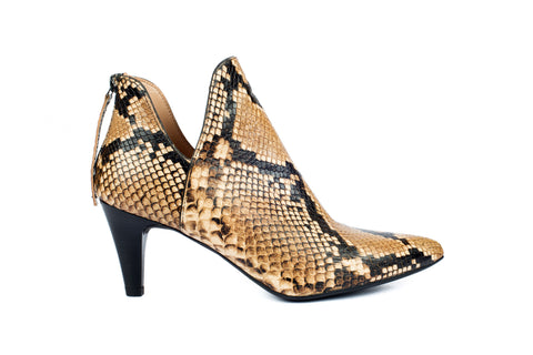 Unisa snake print ankle boot leather