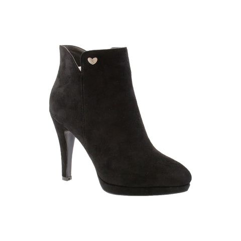 susst kidman black suede ankle boot