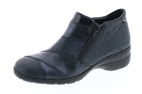Rieker black and navy ankle boot